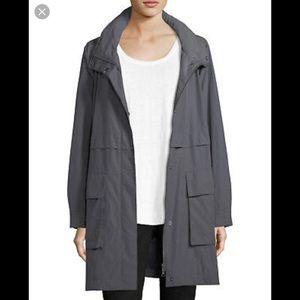 EILEEN FISHER//gray hooded raincoat 1X